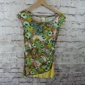 Weston Wear Anthropologie Floral Sleeveless Top
